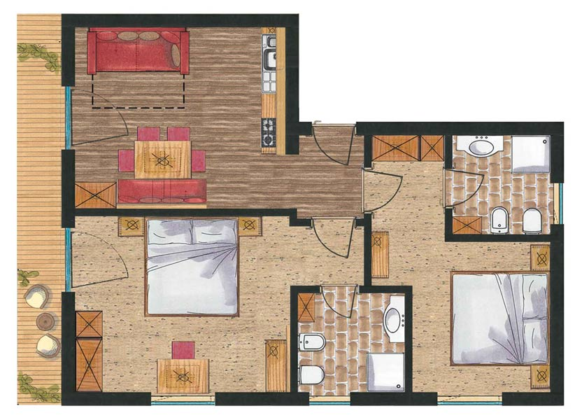 Room plan App. Margherita